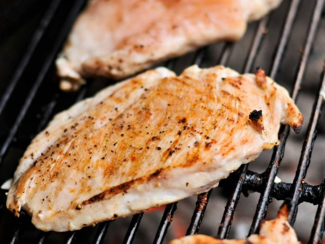 grilled chicken breast strips