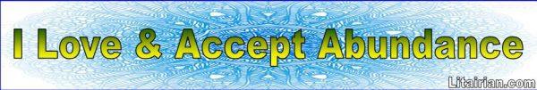 Accept Abundance Affirmations