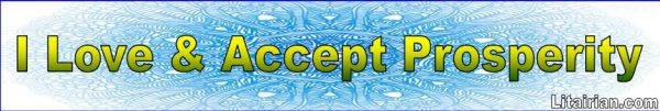 Accept Prosperity Affirmations