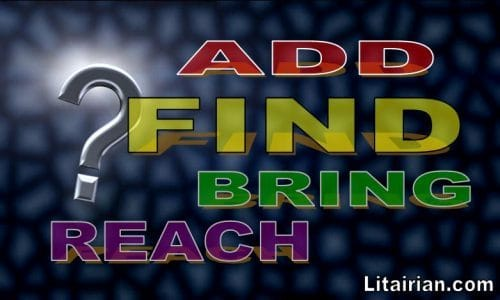 Differences Between Switchwords ADD FIND BRING REACH