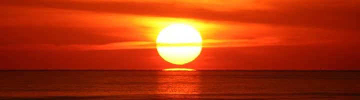 Radiance of golden sun