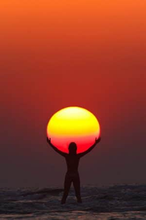 Surya-Namaskar sunrise hindi